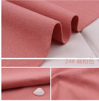 24 Deep Pink 1 Meter One Side Brushed Imitation Woolen Garment Fabric For DIY Colthes Overcoat