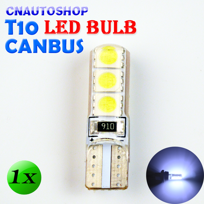 flytop Car LED Bulb CANBUS T10 194 W5W 6SMD 5050 SMD Silicone shell LED Lights 1 PCS flytop 10 x t10 canbus 5smd 5050 smd error free car bulb w5w 194 led lamp auto rear light white blue yellow red color can bus