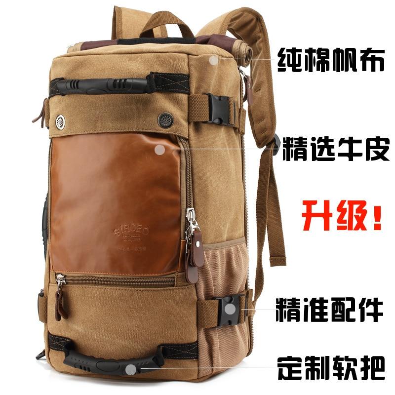 ФОТО women&men vintage backpack outdoor camping mochilas climbing hiking backpack bagpack 2017