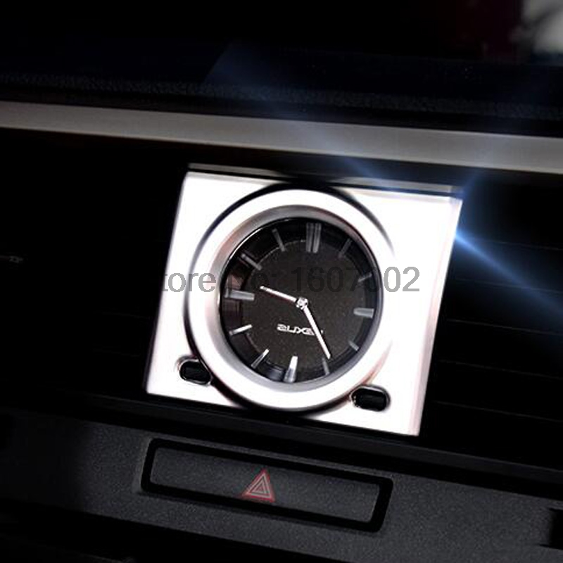 For <font><b>Lexus</b></font> <font><b>RX</b></font> 2016 <font><b>2017</b></font> ABS Matte Car Inner Front Console Quarta Watch Decorative Cover Ring Frame Mask Moulding Trim Accessories image