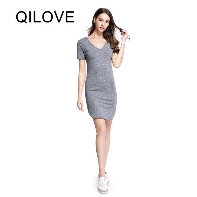 Vestido gris mujer