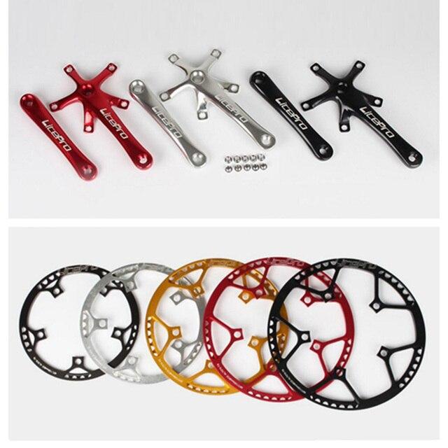 130 BCD bicicleta ronda Chainwheel 45 T/47 T/53/T/56 T/58/T anillo de cadena plegable Brompton bicicleta rueda bicicleta 170mm manivela