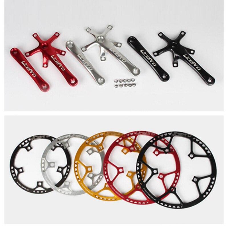 цена на Litepro 130 BCD Bike Round Chainwheel 45T/47T/53T/56T/58T for Folding Bike Chain Wheel Bicycle 170mm Crank Chain Ring AL7075