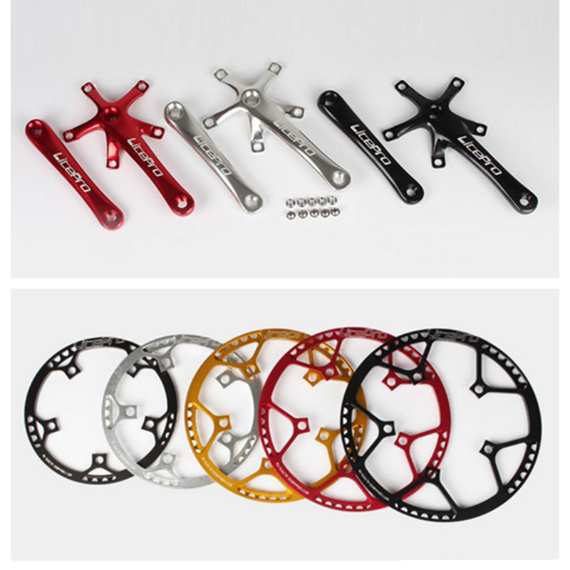 Litepro 130 BCD Bike Round Chainwheel 45T/47T/53T/56T/58T for Folding Brompton Bike Chain Wheel Bicycle 170mm Crank Chain Ring