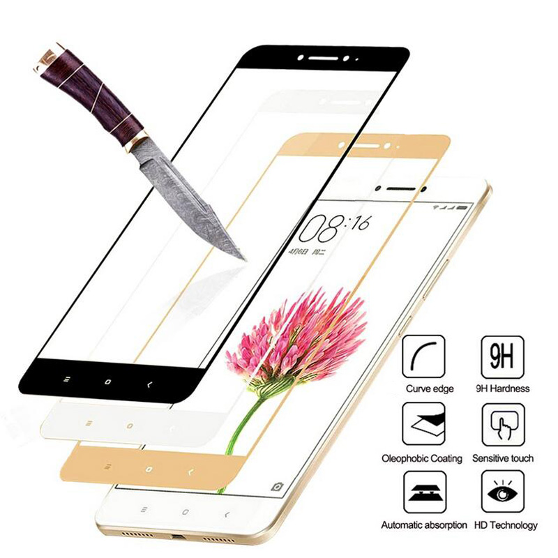 Full Cover Tempered Glass For Xiaomi Redmi 4 4A 4Pro 4 Prime Redmi Note 4 Pro Note 4X Colorful Screen Protector Tou
