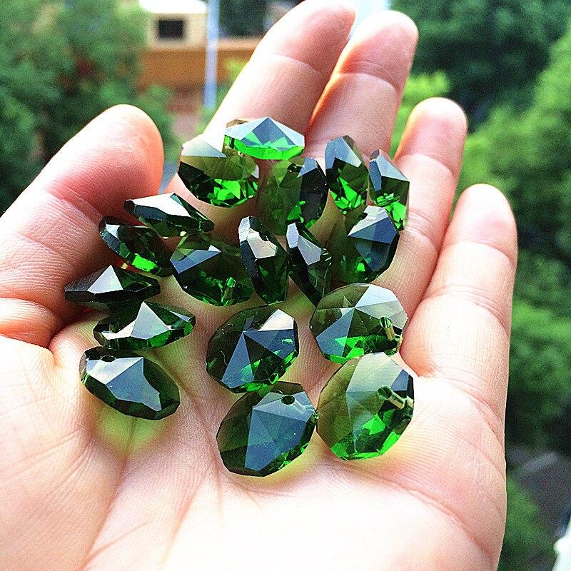 100 pçs lote 14mm cristal octógono contas