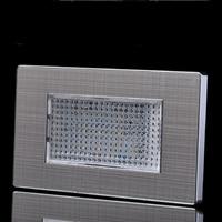 New led stair luz embutida led footlights passo lâmpada de parede noite Desenho do Fio 118*72mm com caixa