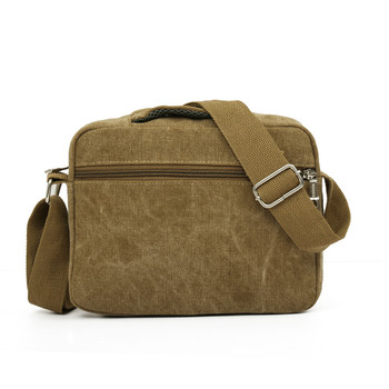 Aelicy Retro Canvas Men Travel Bag Casual Men Shoulder Crossbody  Outdoor Bags Mens Travel School Retro Zipper Shoulder Bag