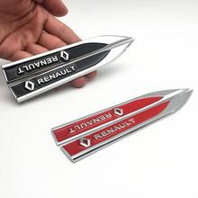 FDIK 2 pçs/set PARA lado Fender tronco traseiro Do Emblema Do Decalque Etiqueta Do Carro Renault Vel Satis Megane Latitude capt FRENDZY koleos CLIO
