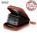 100% Cowhide Luxurious Leather European and American Style  Men and Women Business Card Holders Fashion Credit Card Wallets
