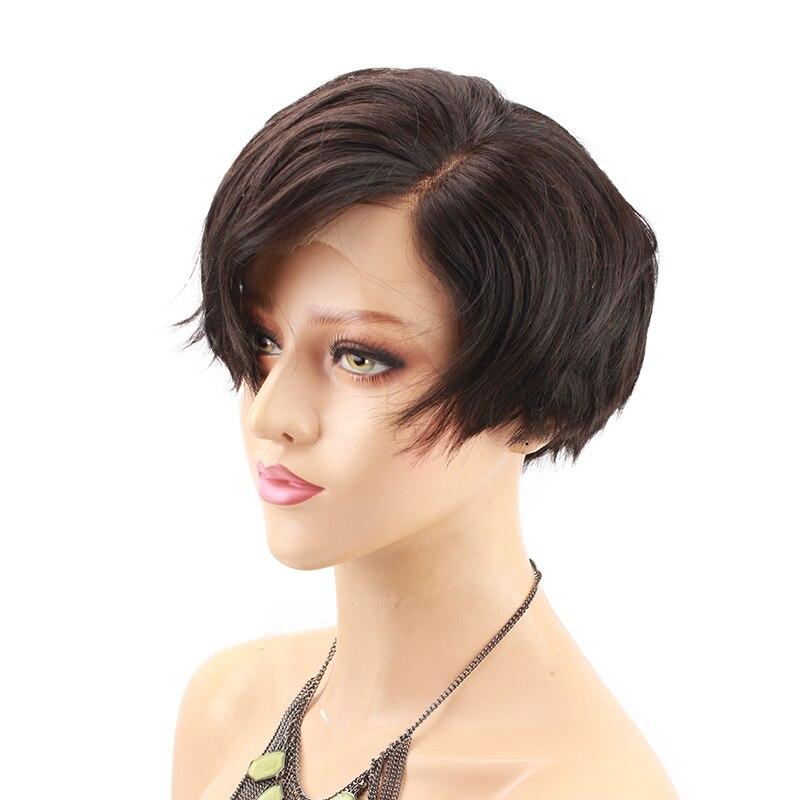 Eseewigs короткий Боб человеческих волос full lace детские волосы парики вокруг бразильского Волосы Remy Glueless Hand Made парик для Для женщин