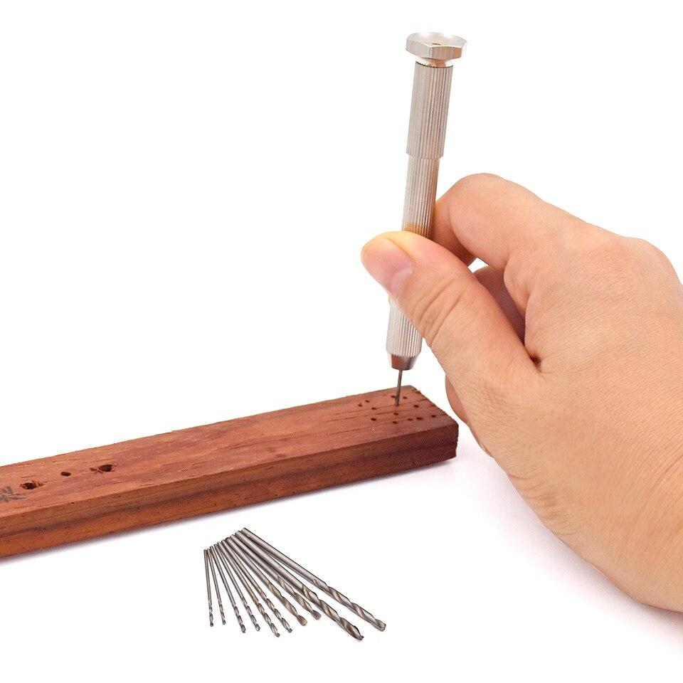 Mini taladro de mano de aluminio micro con mandril sin llave + 50 - Broca - foto 5