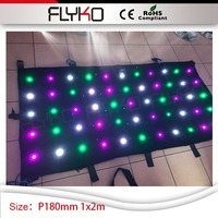 1m x 2m wedding church dj table booth decoration led curtain dmx P180mm video curtain light
