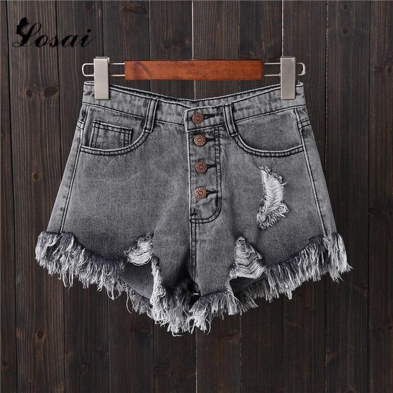 2019 New Plus Size 6XL Women Sexy High Waist Denim   Shorts   Summer Tassel Ripped   Shorts   Jeans   Shorts   Summer Biker   Shorts   for Women