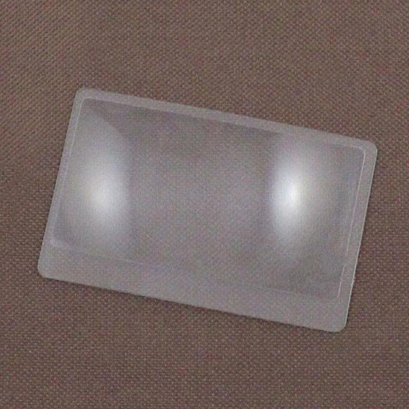 Купить 3 x увеличительное карманное стекло размер кредитной карты прозрачное