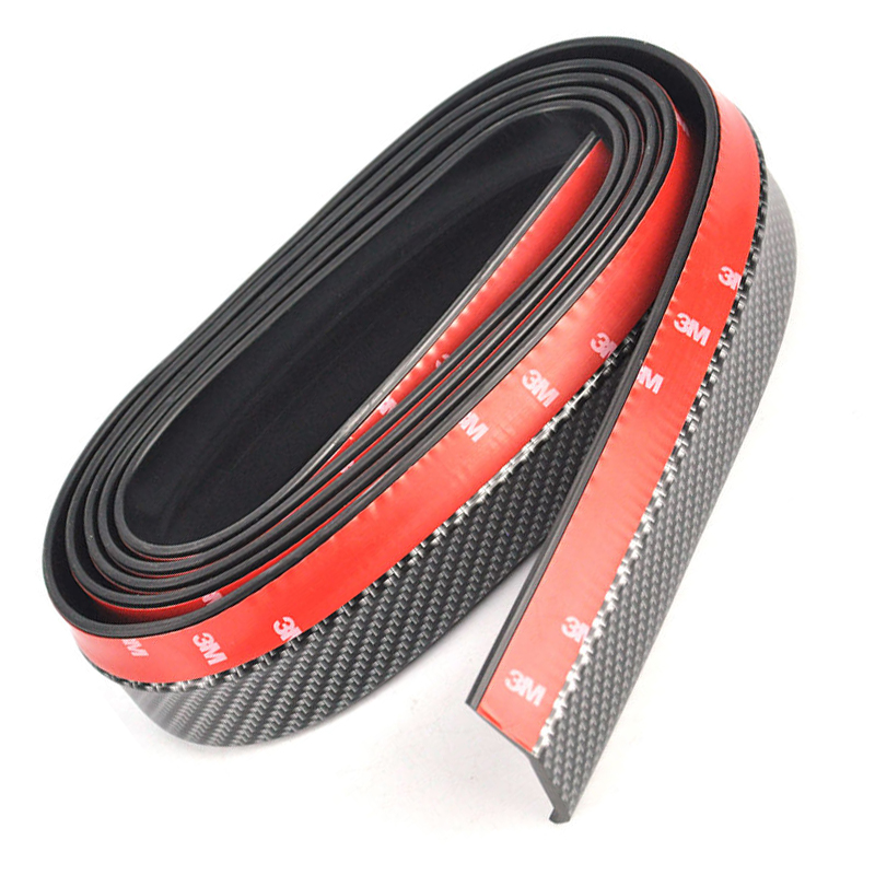 Universal 2.5M/ROLL 42MM WIDTH Car Front Protector Bumper Lip Splitter Body Kit Spoiler Bumpers Valance Chin Carbon