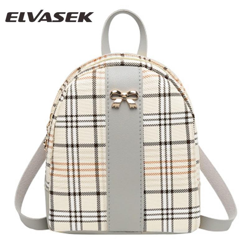 ELVASEK 2019 New Striped Backpack Fashion Wild Women Bag Small Hot Outdoor Travel Backpack Mini Ladies Bag Two Shoulder Bag