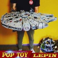 Лепин 05132 Звездный Разрушитель Сокол Тысячелетия LegoINGs 75192 кирпичей модели строительных блоков обучающие игрушки войны