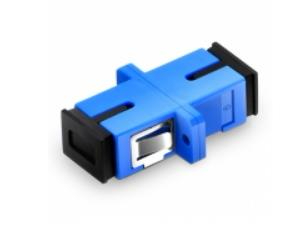 Sc upc adaptador simples de fibra óptica singlemode flange de plástico conector de fibra óptica ftth conector de fibra óptica sc