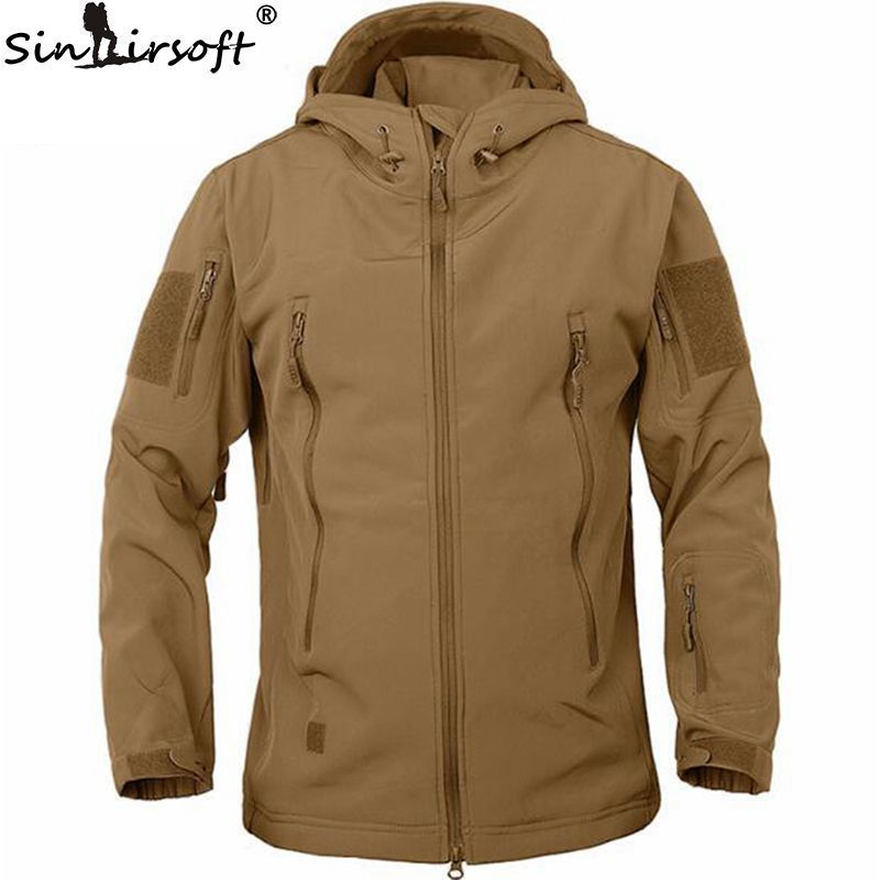 Men Military Tactical Jackets Outdoor Waterproof Army Sports Camouflage Hunting Hiking Fleece Lining Coat softshell jacket