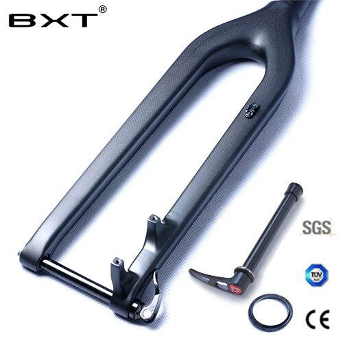 Fourche vtt carbone 29er descente DH fourche vélo Bicicletas rigide VTT fourche avant Fibre rockshox conique à travers l'axe 15mm