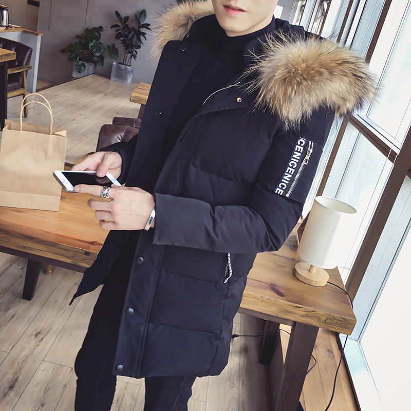 Parkas Parkas Men Winter Jacket 2018 Men's Cotton Men's Mid Length Cotton Padded Clothes A458-998-P120