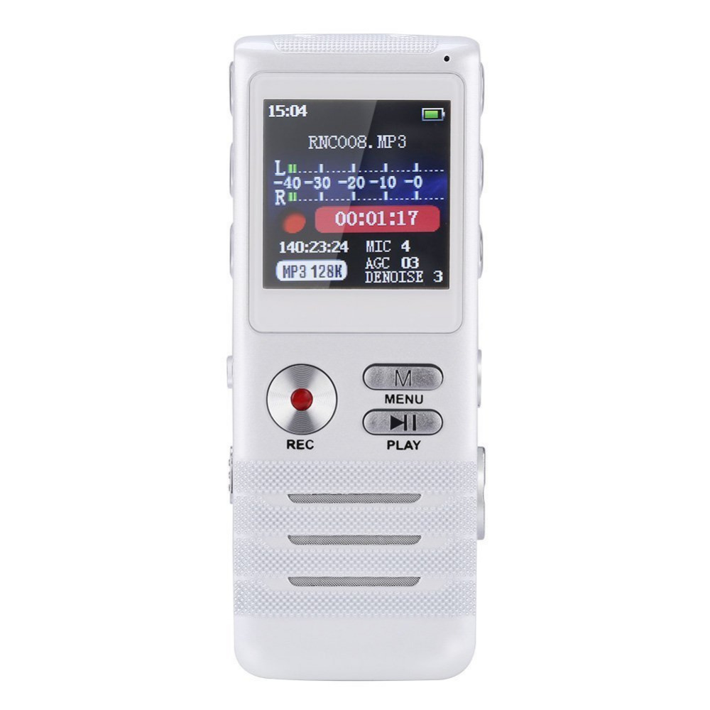 Consumer Electronics 8GB Professional Multifunctional Dual Core Stereo Digital Voice Recorder Noise Reduction with MP3 Player