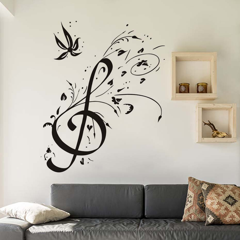 compare prices on wallpaper music notes online shopping buy low wall decoration diy home decor musical notes decal vinyl tv mural wall sticker background wallpaper for