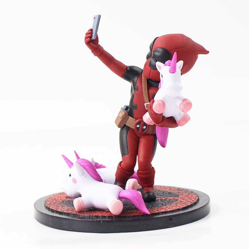 Funny Deadpool unicorn selfie figure 2