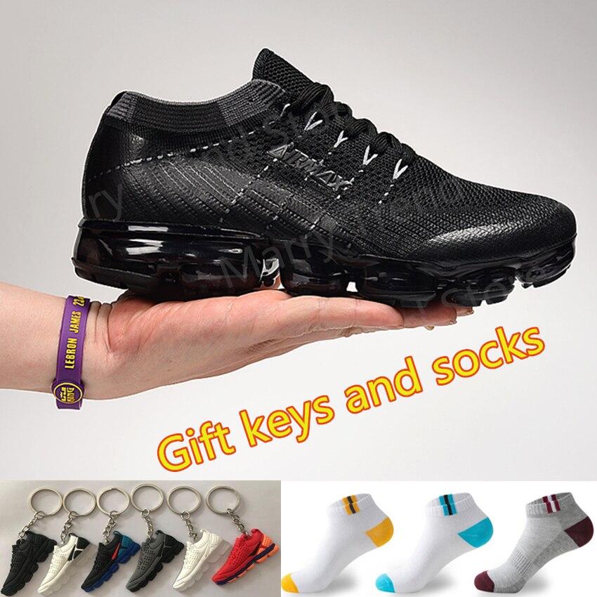 Chaussures de course Vapormax 2.0 2019 hommes femmes Original respirant coussin d'air en plein Air sport athlétique baskets tricoté maille chaussures