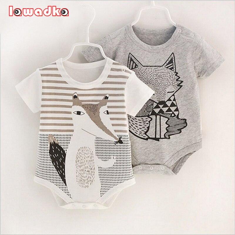 100% de algodón de manga corta bebé mamelucos de bebé recién nacido ropa niño niñas monos Bebe Roupas
