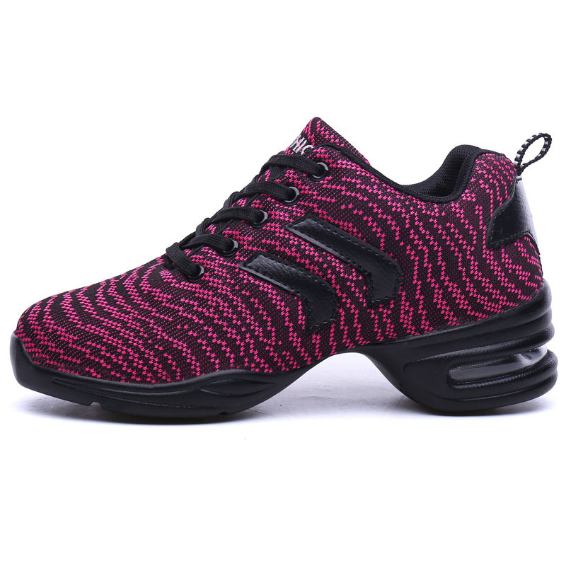 EU36 41 Sports Feature Soft Outsole Breath Dancing Shoes Sneakers Woman Practice Shoes Modern Dance Jazz Shoes for Women