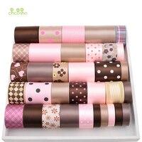 High Quality 34 Yard Mix Brown Pink Ribbon Set For Diy Handmade Gift Craft Packing Hair