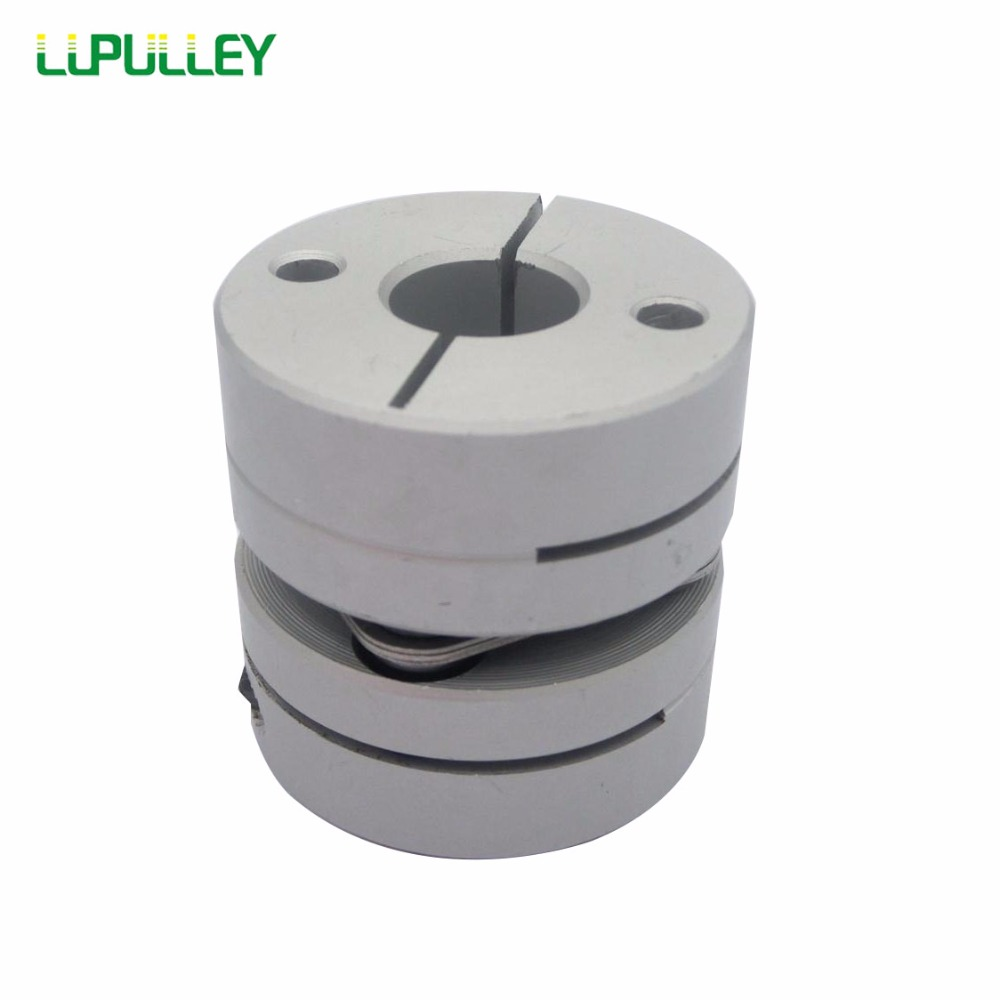 LUPULLEY 2PCS Stepper Motor Shaft-Couplings Aluminum Alloys Single Diaphragm Flexible Coupling Bore 8/9.525/10/11/12mm 34mm*32mm new flexible aluminum alloys single diaphragm coupling servo and stepper motor shaft couplings d 68 l 55 d1and d2 are14 to 35mm