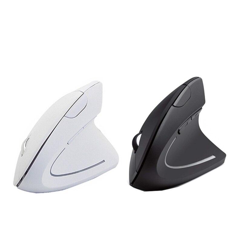 Gaming Mouse sem fio 800/1200/1600 DPI Ergonômico Vertical Mouse Optical Mice Mause Computador 3D com Mouse Pad para PC Portátil