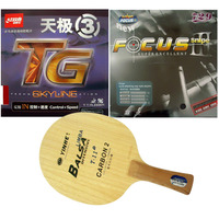 Galaxy YINHE T 11+ Blade With RITC729 FOCUS3 Snipe and DHS Skyline TG3 rubbers for a Racket