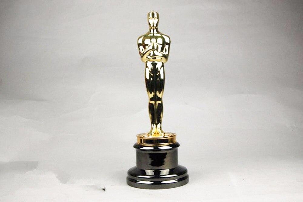 3.8KG zinc alloy oscar trophy award scale 1:1 13.5inches movie souvenirs Free Engraving