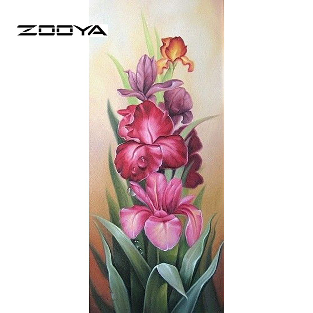 Square Diamond Mosaic Painting Diamond Embroidery Cross Stitch Flower Tulips Home & Garden Arts,crafts & Sewing 3d Diy Full Crystals Beadwork Set 2632r