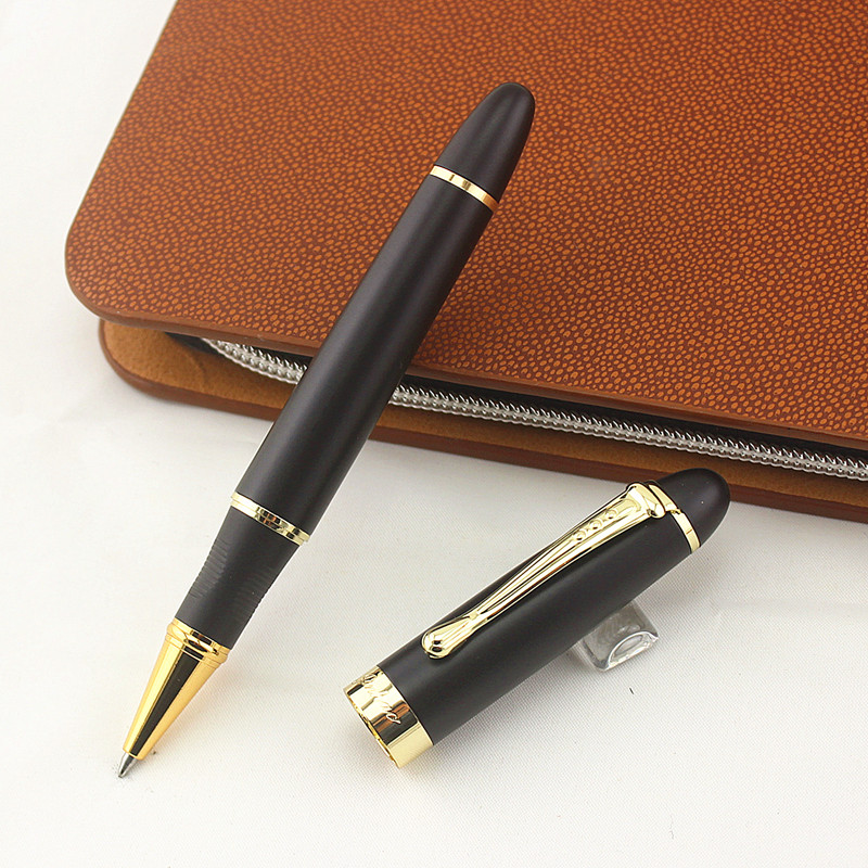 A free Refill 5 Units of Luxurious Gold Black Solid body Ink Roller Pens