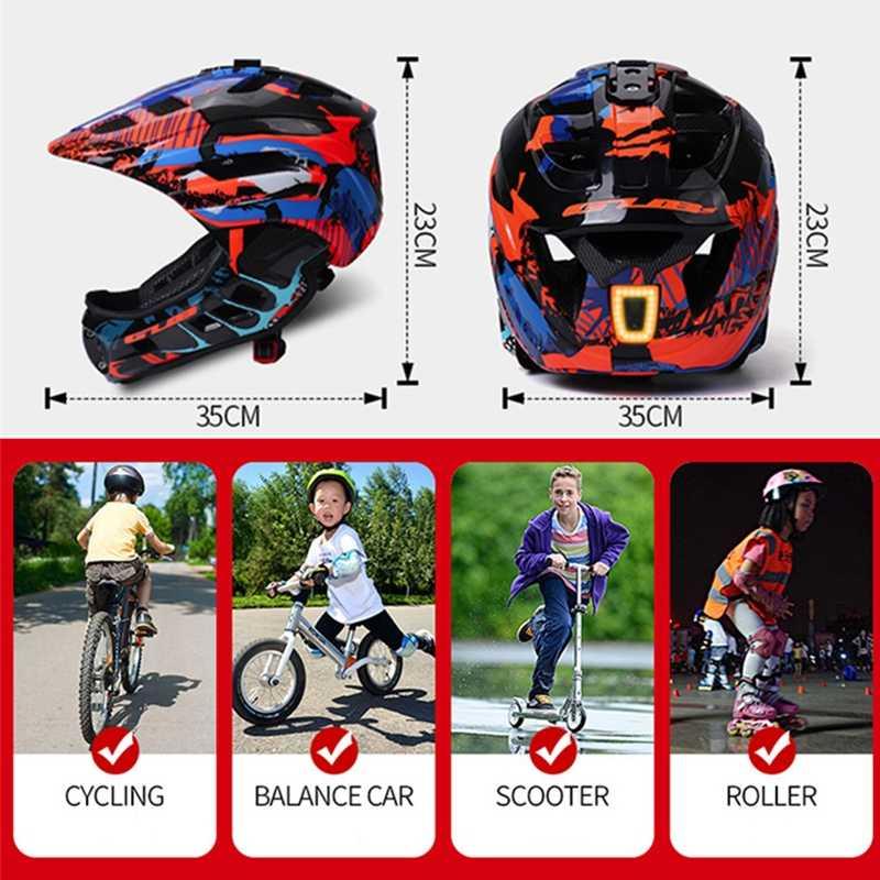 GUB カメラインストール可能な子供サイクリングヘルメット子供 Fullface バイクヘルメット Led 自転車ヘルメット Casco Bmx