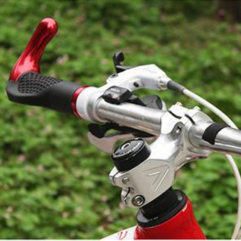 Bicycle Handlebar Grips Lock-On Handle Bar Ends Comfortable Bike Handlebar TPR rubber Aluminum Alloy Multi-color Bike Grips