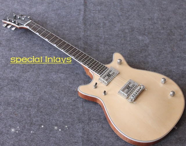Hot In Stock Electric Guitar Gretsch Natrual Color Face And Back Presented Pick Bag Free Shipping