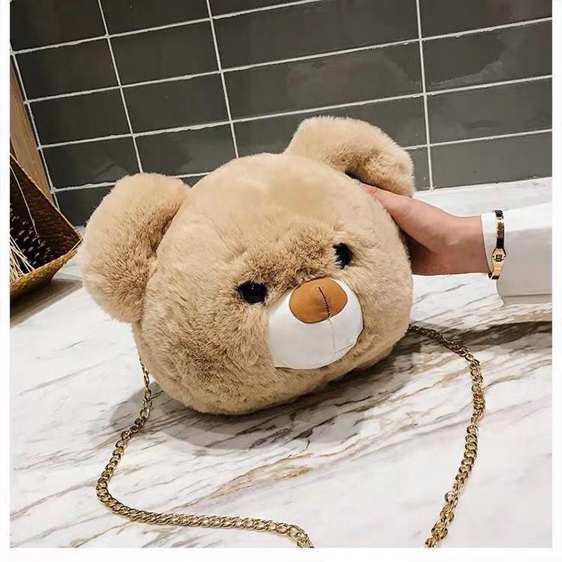 Women Leather Teddy TS Bear Shoulder Bags Messenger Purse Satchel Tote Handbags