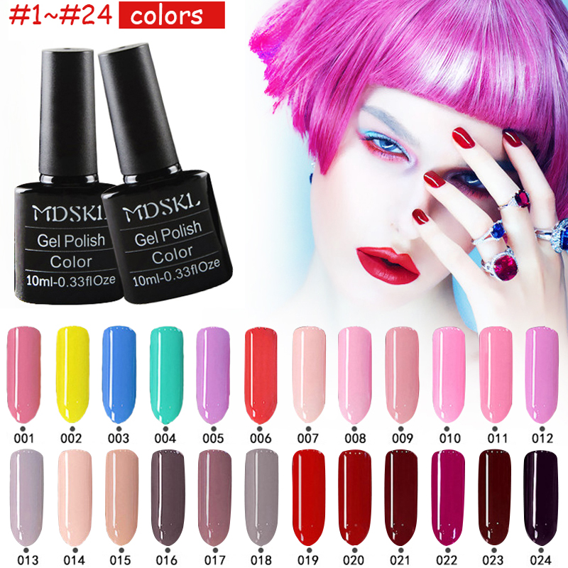 MDSKL 132 Colors beauty UV Gel Nail Polish 10ML Soak-off Nail Glitter UV Gel Lacquer Nail Art