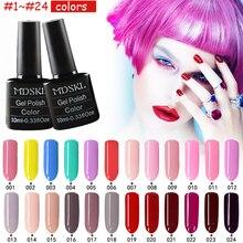 Mdskl 132 cores beleza uv gel unha polonês 10 ml soak-off prego brilho uv verniz gel nail art