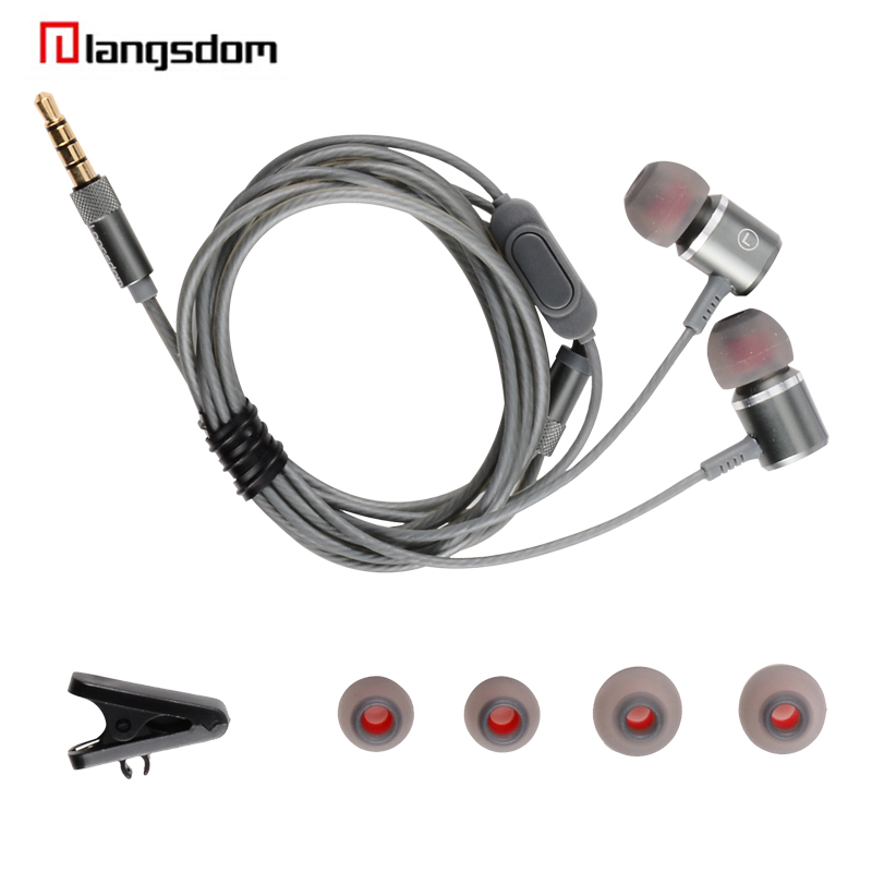 Langsdom m400 super stereo bass inear earphone with mic hifi music earbuds sweatproof gaming headset for apple for huawei honnor wired earphone with mic dual drive gaming headset stereo bass music earphones inear running sports earbuds for iphone for xiaomi