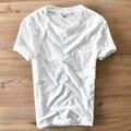 2017 Chegada Nova Summer Manga Curta O Pescoço de Algodão Branco T homens da camisa magro ocasional dos homens t-shirt marca clothing tshirt dos homens Camiseta