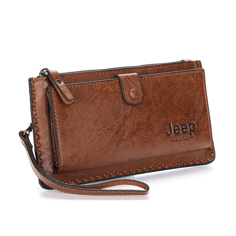 Fashion Men Business Clutch Handbag PU Leather JEEP Businees OL Wallet Phone Holder Coin Bag Male Leather Purse men s purse long genuine leather clutch wallet travel passport holder id card bag fashion male phone business handbag