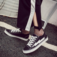 Mazefeng 2018 S Women Casual Shoes Hard Wearing Women Canvas Shoes Flats Trend Lace Up Comfortable