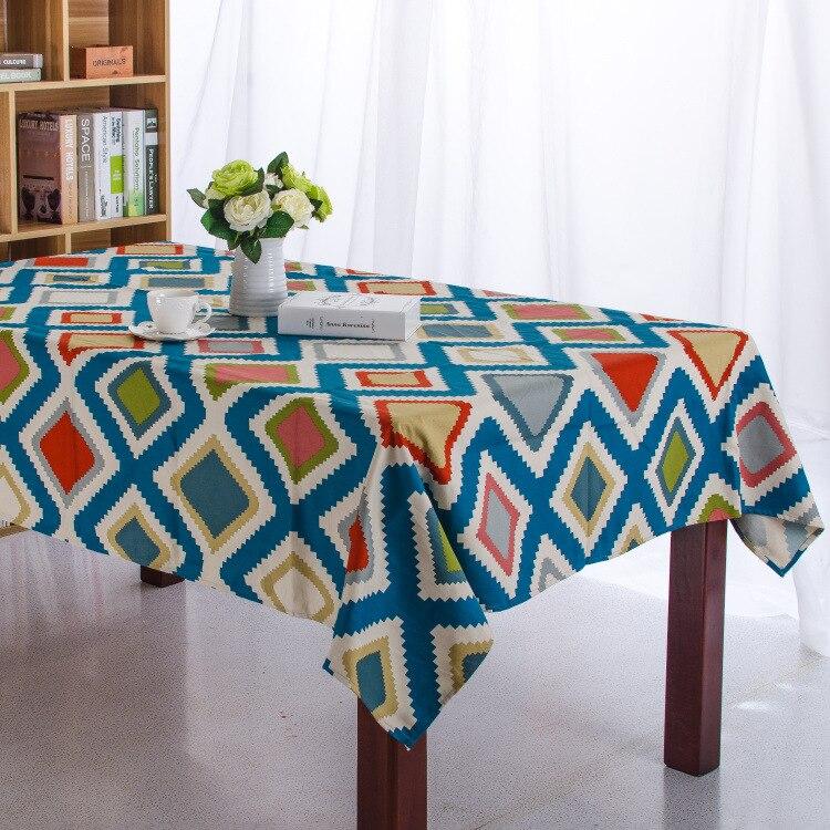 Геометрия Синий полосатый холст скатерть толстые Средиземноморский обеденный Кофе покрытие стола toalha-де-меса manteles Para Меса покровно